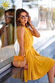 stylish yellow dresses for women styling u2013 designers