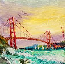 golden gate bridge in san francisco california painting by