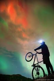 Light Mtb Picture More Detailed Picture About Car Led Night Mountain Bike Riding With Aurora Borealis Northern Lights