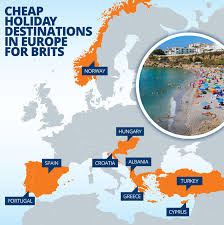 cheap travel destinations images Mapped the best value european holiday destinations revealed jpg