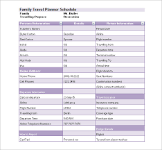 16 travel schedule templates free word excel pdf format