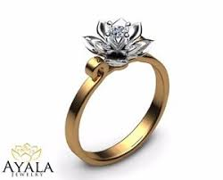 engagement ring brands 0 10 ct 14k two tone gold ring designer ring flower ring