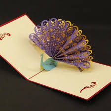 paper greeting cards diy greeting card paper spiritz peacock 3d pop up greeting card