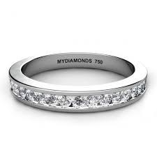 desiree ring desiree channel set diamond wedding ring 0 30 carats