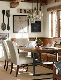 dining room wall ideas dining room wood gallery wall decoration modern industrial pottery