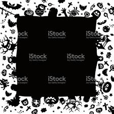 free halloween vector art halloween border for design stock vector art 610986496 istock