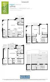 dwell city towns toronto floorplan ultra 3 bedrooms