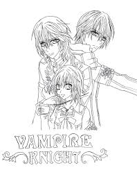 best vampire knight coloring pages pictures kid coloring kid