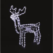 Christmas Animated Reindeer Decorations by Premier Decorations Led Rope Light Animated Reindeer 70 X 168cm