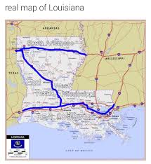 Lsu Map A Real Map Of Louisiana Tigerdroppings Com