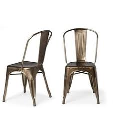 Tabouret Bistro Chair Tabouret Brushed Copper Bistro Dining Chairs Set Of 2 Space