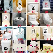new toilet seat wall sticker pvc art wallpaper removable bathroom