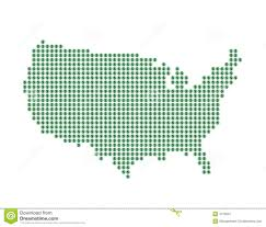 Map If Us Map Of U S With Green Dots And Dollar Sign Stock Image Image