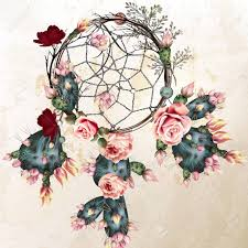grunge vector boho background with indian dreamcatcher and
