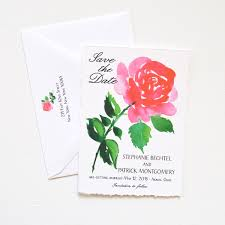 5 beautiful wedding save the dates watercolor wedding