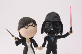 wars wedding cake topper witch and sith wedding harry potter wars cake topper