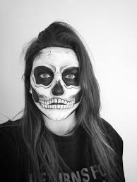 Halloween Skull Face Makeup by Halloween Skull Face Paint Halloween Skull Skeleton Facepaint