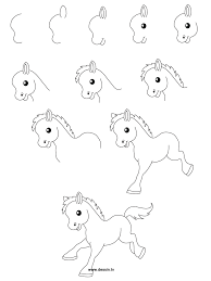 how to draw a cartoon horse 78 best images about paarden tekenen