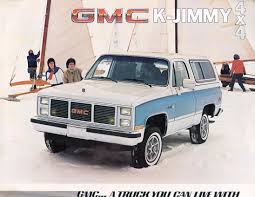 gmc jimmy car brochures 1985 chevrolet and gmc truck brochures 1985 gmc