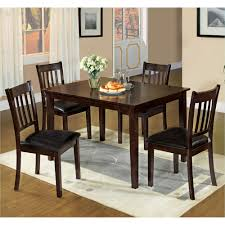 5 pc dining table set venetian worldwide west creek i 5 piece espresso dining set cm3012t
