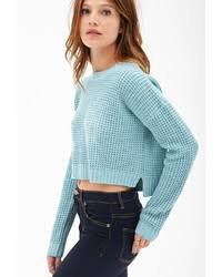 forever 21 cropped waffle knit sweater where to buy how to wear