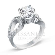 fancy wedding rings fancy swirl moissanite diamond engagement ring moissanitebridal