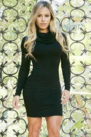 sleeved black dress turtleneck sleeved soft black mini dress
