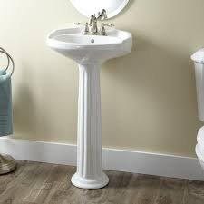 Bathroom Pedestal Sink Ideas by Roman Style Ceramic Pedestal Sink In White Finish Plus Chrome