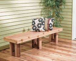 build a bench seat for deck bench decoration