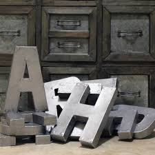 metal letters wall decor wall metal letter galvanized giant galvanized letters wall plate design ideas