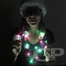 mini led light necklaces glow necklace