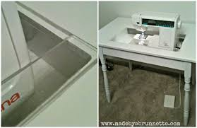 how to make a drop in sewing table diy made by a brunnette