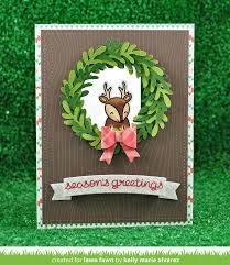 large wreath lawn fawn