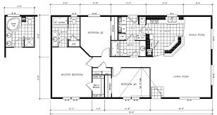 Mobile Home House Plans Simple Small Floor Manufactured Plan 7