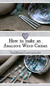 how to make an abalone wind chime diy mermaid beach home decor