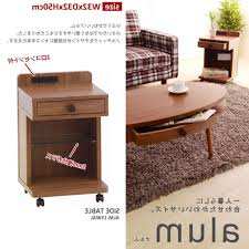 side table with power outlet auc 11myroom rakuten global market nightstand bedside table side