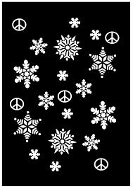 snowflakes black white christmas xmas holiday peace symbol sign
