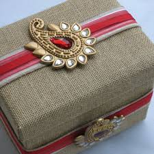 indian wedding gift box burlap paisley wedding card box indian from bejuledcreations on