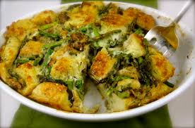 Christmas Dinner Ideas Side Dish Asparagus Bread Pudding Is The Perfect Spring Side Dish To