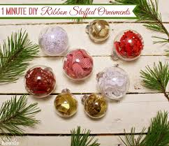 one minute ribbon stuffed diy ornaments trim the tree