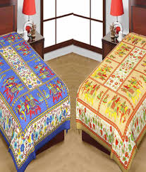 uniqchoice pure 100 cotton jaipuri traditional printed 2 single