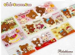kawaii san x id card holder rilakkuma cake train cute stuffs