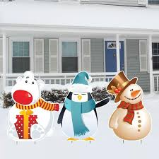 Snowman Lawn Decorations Merry Christmas Santa And Presents Christmas Lawn Decoration