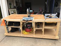 table saw workbench plans i built a mobile workbench album on imgur
