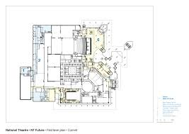 chicago theater floor plan national theatre haworth tompkins archdaily