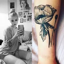 ängie flower forearm tattoo steal her style