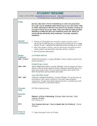 Sample Of Resume For Students by Example Resume For High Student Examples Of Resumes For