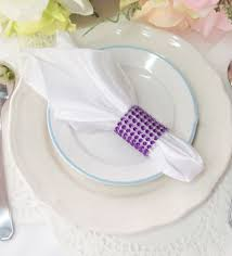 how to set a table with napkin rings 6 pcs wedding party rhinestone bling napkin ring banquet