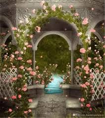 wedding backdrop garden vintage pavilion pink flowers garden photo backgrounds outdoor