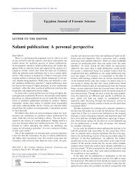 salami publication a personal perspective pdf download available